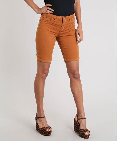 Bermuda-Ciclista-Feminina-de-Sarja-Caramelo-9543710-Caramelo_1