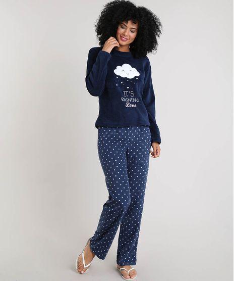 Pijama-Feminino-em-Plush-Estampado--It-s-raining-love--Azul-Marinho-9372413-Azul_Marinho_1