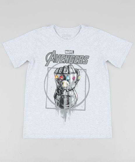 Camiseta-Infantil-Os-Vingadores-Guerra-Infinita-Manga-Curta-Gola-Careca-Cinza-Mescla-Claro-9527949-Cinza_Mescla_Claro_1