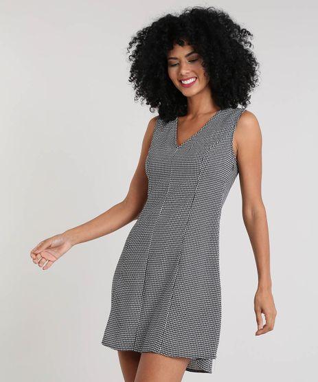 Vestido-Feminino-Curto-Estampado-Pied-de-Poule-Preto-9411290-Preto_1