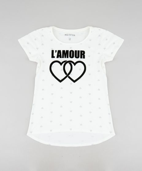 Blusa-Infantil--L-Amour--Estampada-de-Coracoes-Manga-Curta-Decote-Redondo-Off-White-9519340-Off_White_1