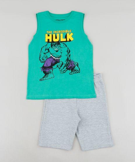 Conjunto-Infantil-Hulk-de-Regata-Verde---Bermuda-em-Moletom-Cinza-Mescla-9242838-Cinza_Mescla_1