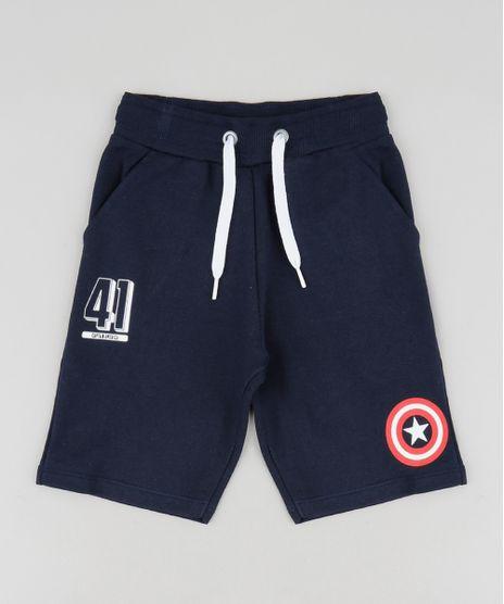 Bermuda-Infantil-Capitao-America-em-Moletom-Azul-Marinho-9518794-Azul_Marinho_1