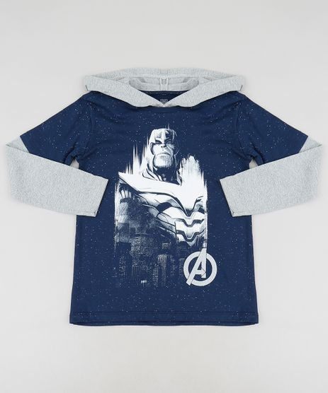 608a1600f Camiseta-Infantil-Thanos-Os-Vingadores-Manga-Longa-com-