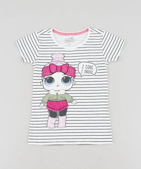 Blusa-Infantil-LOL-Surprise-Listrada-Manga-Curta-Decote-Redondo-Off-White-9468820-Off_White_1