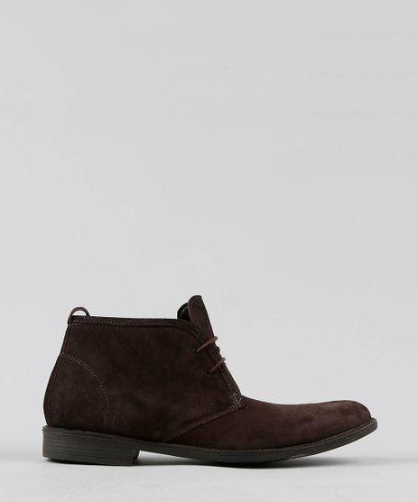 Sapato-Masculino-Cano-Alto-em-Suede-Marrom-Escuro-9530293-Marrom_Escuro_1