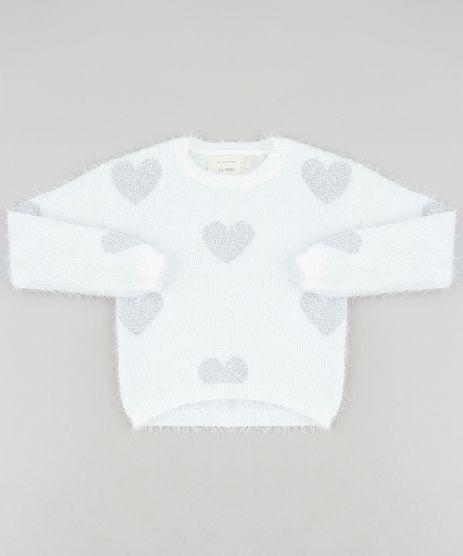 Sueter-Infantil-em-Trico-Felpado-Estampado-de-Coracoes-Off-White-9347810-Off_White_1
