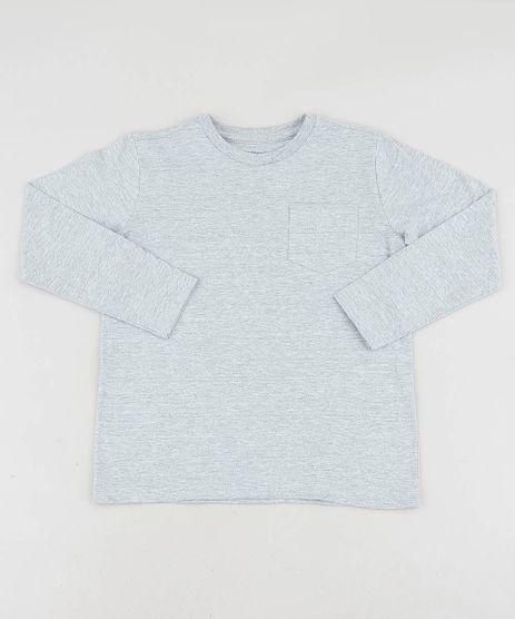 Camiseta-Infantil-Basica-com-Bolso-Manga-Longa-Gola-Careca-Cinza-Mescla-8661376-Cinza_Mescla_1