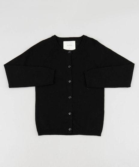 Cardigan-Infantil-Basico-em-Trico-Decote-Redondo-Preto-9457619-Preto_1