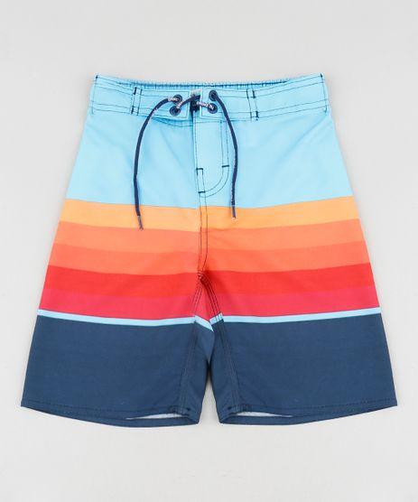 Bermuda-Surf-Infantil-com-Listras-e-Cordao-Azul-Claro-9536613-Azul_Claro_1