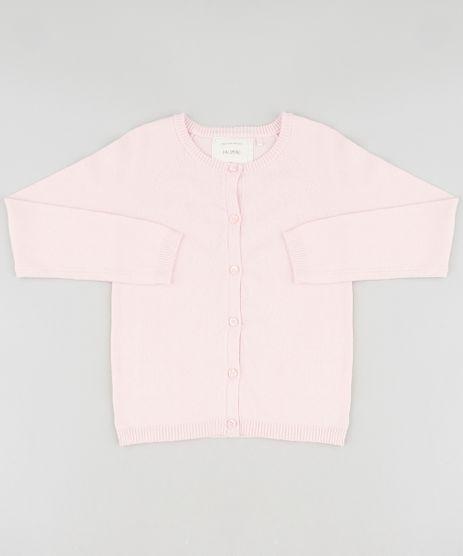 Cardigan-Infantil-Basico-em-Trico-Decote-Redondo-Rosa-Claro-9459504-Rosa_Claro_1