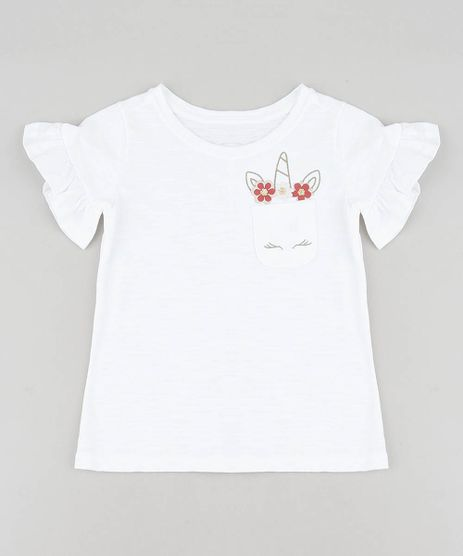 Blusa-Infantil-Unicornio-com-Bolso-e-Babado-na-Manga-Decote-Redondo-Off-White-9457388-Off_White_1