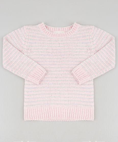 Sueter-Infantil-em-Trico-de-Chenille-com-Lurex-Rose-9347620-Rose_1