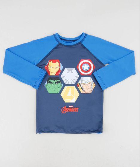 1923442e0 Camiseta de Praia Infantil Os Vingadores Raglan Manga Longa Gola ...