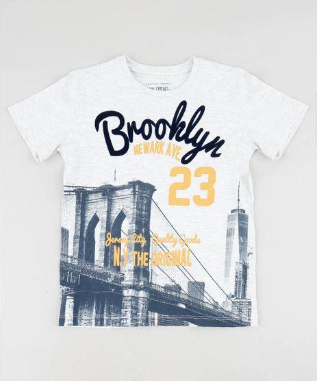 Camiseta-Infantil--Brooklyn--Manga-Curta-Gola-Careca--Cinza-Mescla-Claro-9507854-Cinza_Mescla_Claro_1
