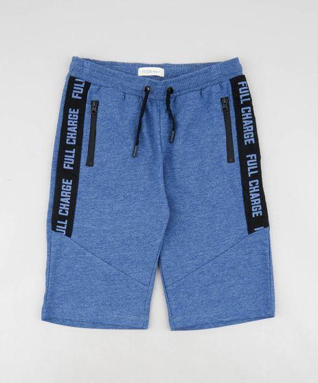 Bermuda-Infantil-em-Moletom-com-Faixa-Lateral-Estampada-Azul-9361437-Azul_1