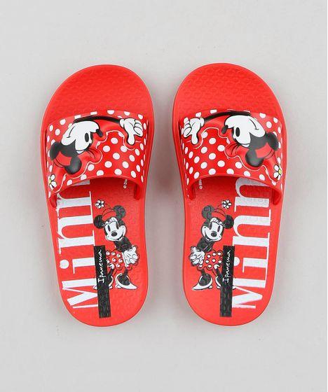 Chinelo Slide Infantil Ipanema Minnie Vermelho Cea