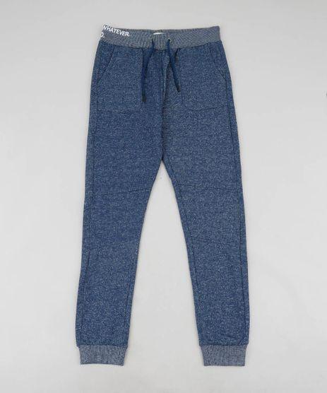 Calca-Infantil--Oh-Well--em-Moletom-Azul-Escuro-9361925-Azul_Escuro_1
