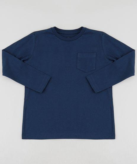 Camiseta-Infantil-Basica-com-Bolso-Manga-Longa-Gola-Careca-Azul-Marinho-8661376-Azul_Marinho_1