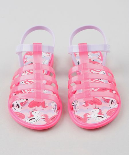 1e60f1c53 Sandália Infantil Grendene Barbie Rosa Neon | Menor preço com cupom