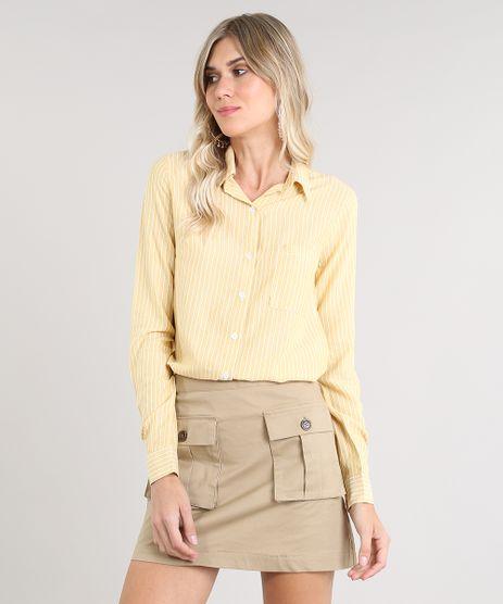 Camisa-Feminina-Listrada-com-Lurex-Manga-Longa-Amarela-9528464-Amarelo_1