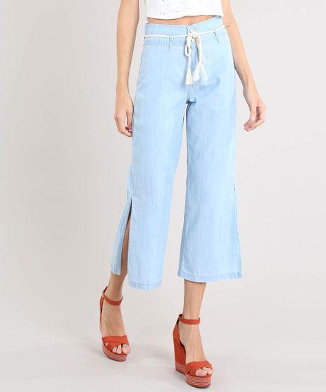 Calca-Jeans-Feminina-Pantacourt-com-Fenda-e-Cordao-Azul-Claro-9532108-Azul_Claro_1