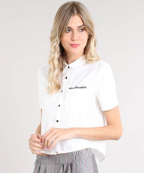 Camisa-Feminina--Heartbreaker--com-Bolso-Manga-Curta-Off-White-9454529-Off_White_1