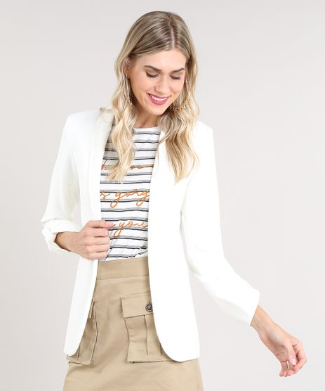 0691f7ac9 Modelos de Blazer Feminino: Branco, Preto, Acinturado, Longo | C&A