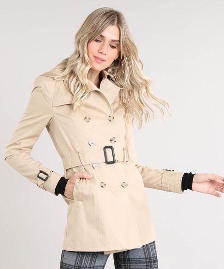 Casaco-Trench-Coat-Feminino-Transpassado-com-Bolsos-e-Cinto-Bege-9362756-Bege_1
