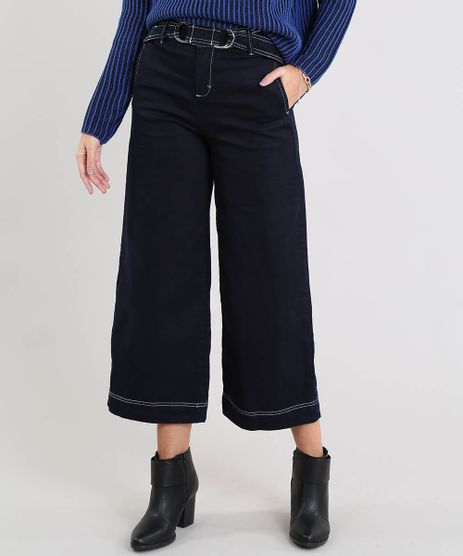 Calca-Jeans-Pantalona-Feminina-com-Cinto-Azul-Escuro-9539074-Azul_Escuro_1