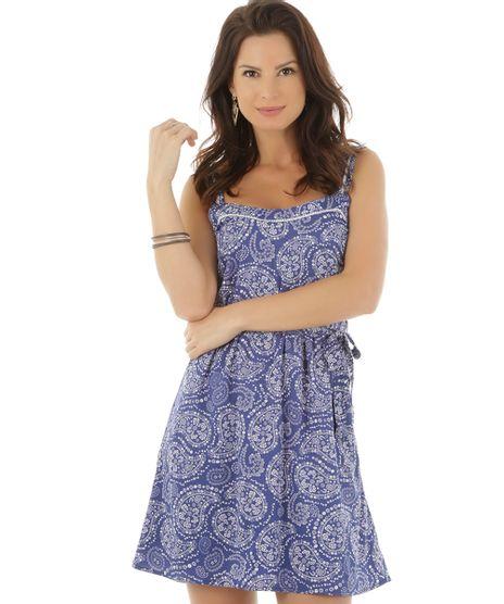 cbeb1b4b91105 Vestido-Estampado-Floral-Azul-Marinho-8370209-Azul Marinho 1