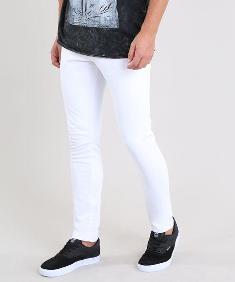 Calca-de-Sarja-Masculina-Slim-Branca-8250348-Branco_1