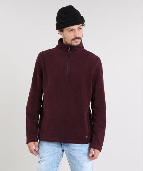 Blusao-Masculino-Basico-em-Fleece-com-Ziper-Vinho-9335089-Vinho_1