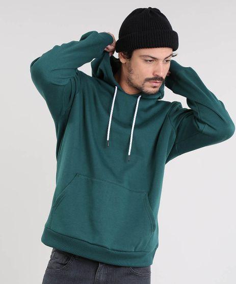 Blusao-Masculino-em-Moletom-com-Capuz-e-Bolso-Verde-9362801-Verde_1
