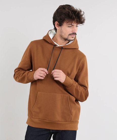 Blusao-Masculino-em-Moletom-Capuz-com-Pelo-e-Bolso-Caramelo-9484535-Caramelo_1