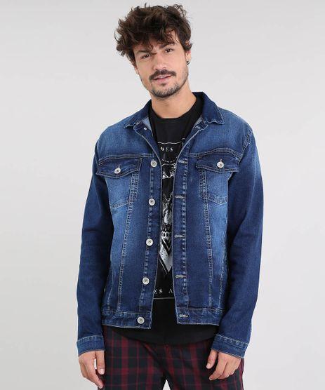 Jaqueta-Jeans-Masculina-com-Bolsos-Azul-Escuro-9524591-Azul_Escuro_1