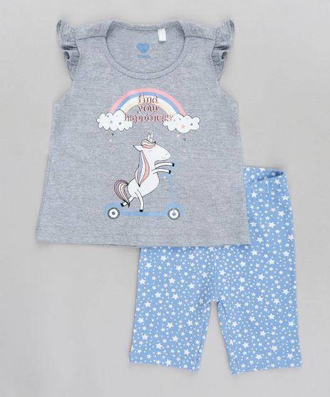 Conjunto-Infantil-de-Regata-com-Babado-Cinza-Mescla---Bermuda-Estampada-de-Estrelas-Azul-Claro-9419910-Azul_Claro_1