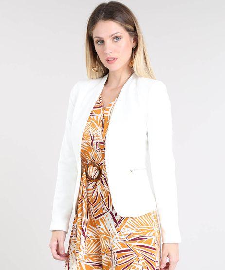 57816c002e Blazer-Feminino-com-Ziper-Off-White-9381974-Off White 1