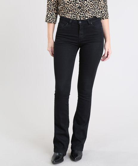 Calca-Jeans-Feminina-Boot-Cut-Preta-9555345-Preto_1
