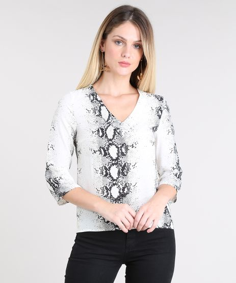 Blusa-Feminina-Estampada-Animal-Print-Decote-V-Manga-3-4-Off-White-9425782-Off_White_1