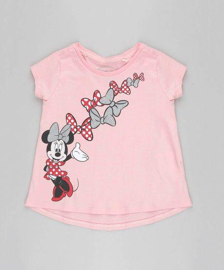 Blusa-Infantil-Minnie-com-Brilho-Manga-Curta-Rosa-Claro-9348618-Rosa_Claro_1