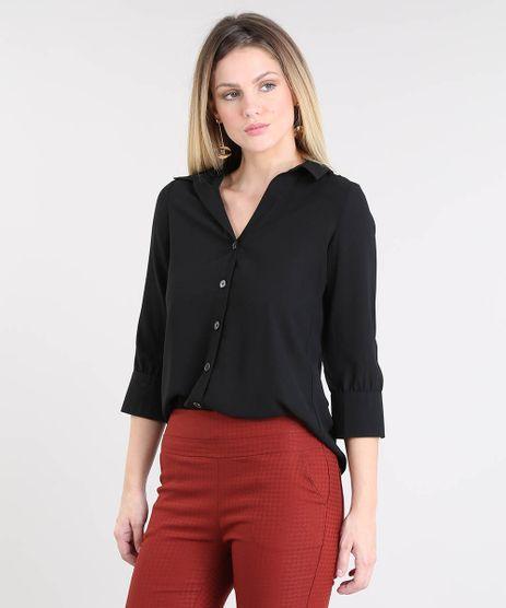 Camisa-Feminina-Basica-Manga-7-8-Preta-9433935-Preto_1