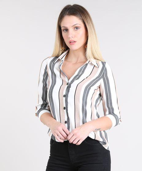 Camisa-Feminina-Listrada-Manga-7-8-Off-White-9433933-Off_White_1