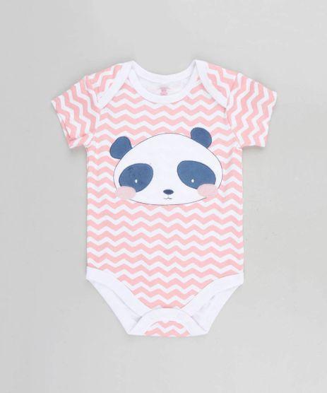 17aede0beaac0 Body-Infantil-Panda-Estampado-Chevron-Manga-Curta-Decote-