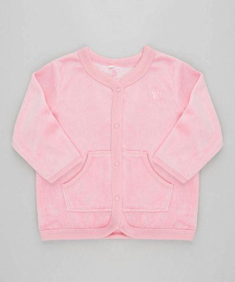 Cardigan-Infantil-em-Plush-com-Bolsos-Rosa-9195544-Rosa_1