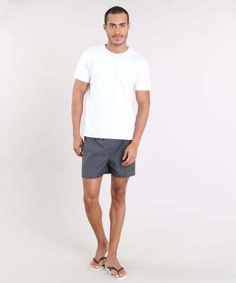 Pijama-Masculino-com-Camiseta-Manga-Curta---Samba-Cancao-Estampada-Mini-Print-Branco-9395531-Branco_1