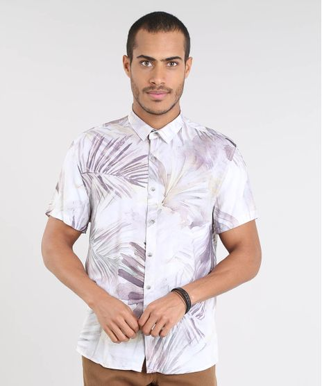 Camisa-Masculina-Estampada-de-Folhagem-Manga-Curta-Off-White-9448224-Off_White_1