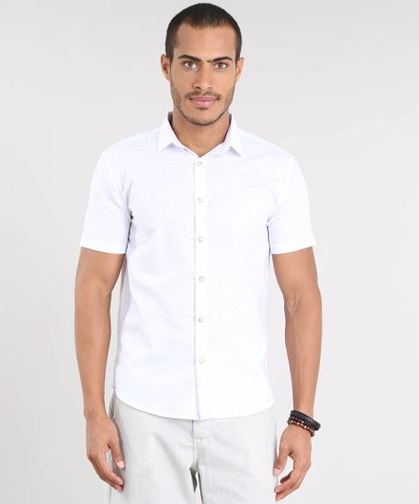 Camisa-Masculina-Relaxed-Estampada-Mini-Print-Manga-Curta-Branca-9466517-Branco_1