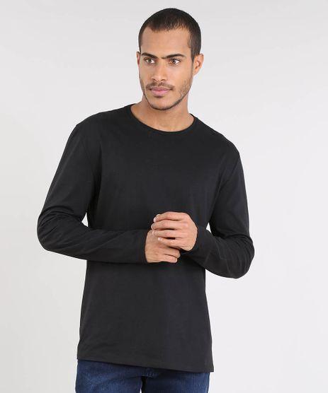 Camiseta-Masculina-Basica-Manga-Longa-Gola-Careca-Preta-9482652-Preto_1