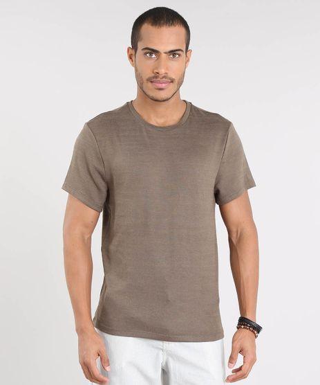 Camiseta-Masculina-Slim-Fit-em-Trico-Manga-Curta-Gola-Careca-Verde-9338920-Verde_1